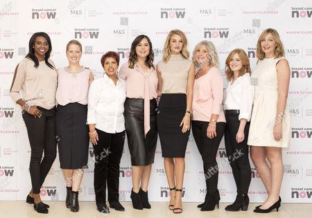 From left: Donna Fraser, Helen Bliss, Sharon Jhheent, Hannah Gardner, Rosie Huntington-Whiteley, Leonie Saysell, Rachel Cholerton and Jo Stermeyer