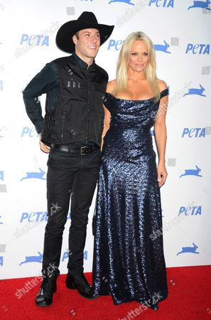 Stock Image of Luke Gilford and Pamela Anderson