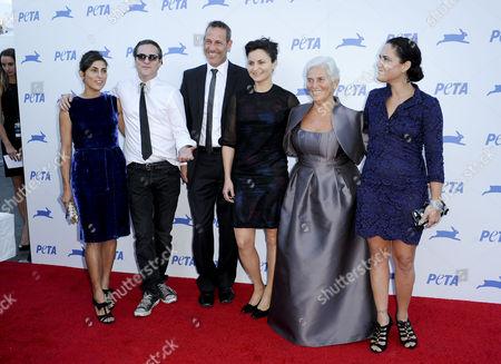 Stock Photo of Summer Phoenix, Joaquin Phoenix, Rain Phoenix, Jeffrey Weisberg, and Arlyn Phoenix and Liberty Phoenix