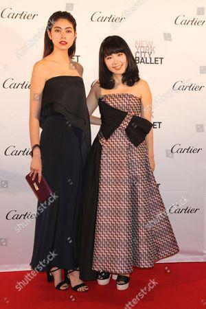 Hanako Maeda, Fashion designer (R) and model (L)