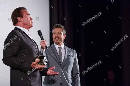 Stock Image of Arnold Schwarzenegger, Max Loong