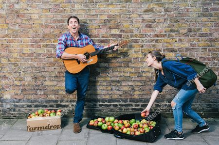 Editorial image of Great Apple Giveaway by Farmdrop, London, Britain - 30 Sep 2015