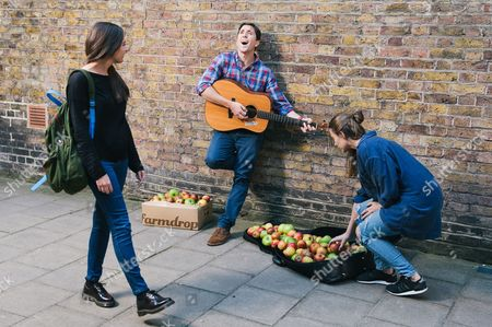Editorial picture of Great Apple Giveaway by Farmdrop, London, Britain - 30 Sep 2015