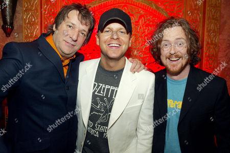 Virgin DJs Pete Mitchell, Ben Jones and Geoff Lloyd