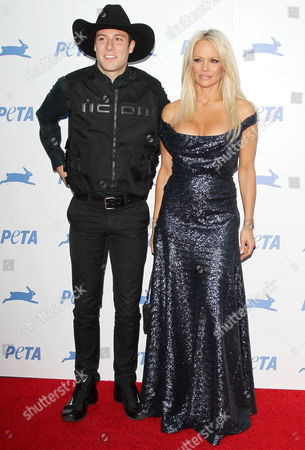 Stock Picture of Luke Gilford and Pamela Anderson