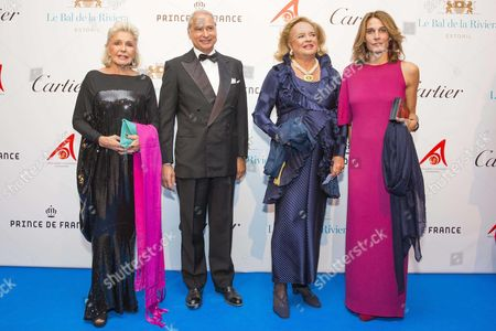 Stock Photo of Princess Beatrice of Orleans, Princess Antonella of Orleans, Princess Ira von Furstenberg and Princess Antonella of Orleans