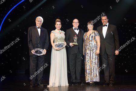 Bernard Fautrier, Sonia Falcone, Prince Albert II of Monaco, Joana Vasconcelos and Prince Charles-Philippe d'Orleans