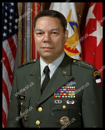 Colin Luther Powell 1990: (born April 5, 1937) American statesman and general in the United States Army. Secretary of State, from 2001 to 2005, National Security Advisor (1987-1989), Chairman of the Joint Chiefs of Staff (1989-1993)