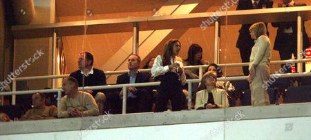 Ted Beckham, Victoria Beckham and Sandra Beckham