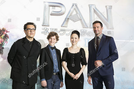 Stock Picture of Joe Wright, Levi Miller, Seiko Matsuda and Hugh Jackman