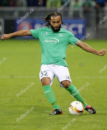 St Etienne player's Benoit Assou Ekotto