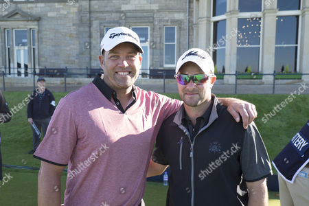 Stock Image of   Jacques Kallis and Mark Boucher on the first tee, of the Old Course.