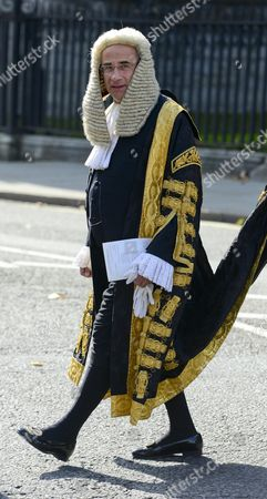 Lord Justice Leveson leaving the service
