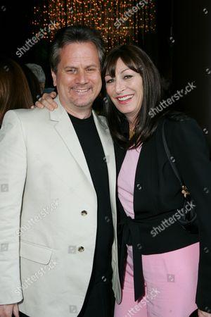 Producer Larry Sanitsky and Director Anjelica Huston