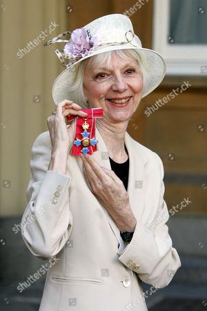 Anna Massey with her CBE