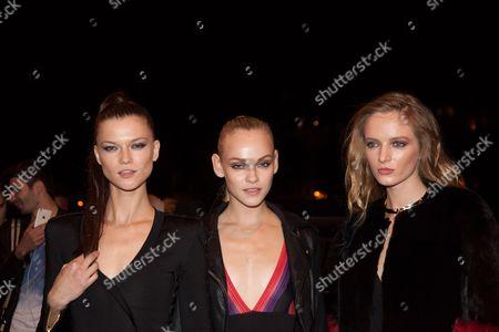 Kasia Struss, Ginta Lapina and Daria Strokous