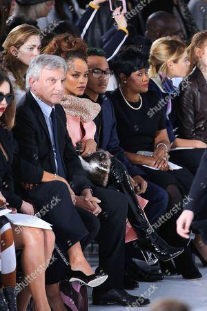Sidney Toledano, Rihanna, her brother Rajad Fenty and her mother Monica Fenty