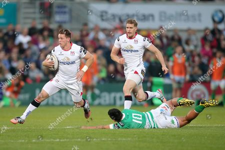 Ulster's Craig Gilroy with Treviso's Sam Christie