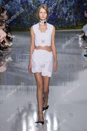Stock Picture of Sofia Mechetner on the catwalk