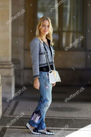 Editorial photo of Street Style, Spring Summer 2016, Paris Fashion Week, France - 02 Oct 2015