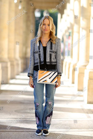 Editorial image of Street Style, Spring Summer 2016, Paris Fashion Week, France - 02 Oct 2015