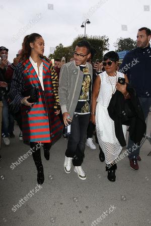 Rihanna, Rajad Fenty and Monica Braithwaite