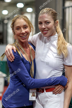 Hannah Selleck and mother, Jillie Mack after her Canadian Pacific Grand Prix win