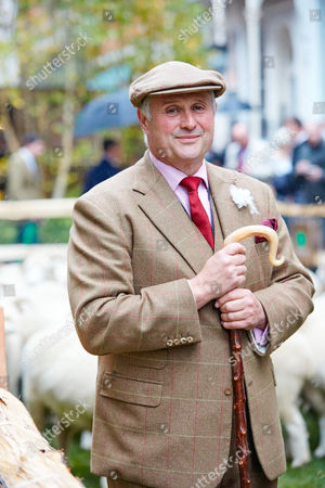 Harry Parker, owner of the Exmoor Horn flock. Savile Row is transformed into green pasture and populated with Bowmont Merino and Exmoor Horn sheep to mark the launch of Wool Week 2015
