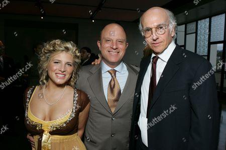 Kate Albrecht, HBO's Chris Albrecht  and Larry David