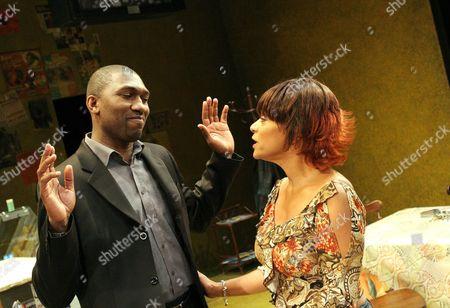 Kwame Kwei Armah, Dona Croll, Elmina's Kitchen, Garrick Theatre, London, Britain