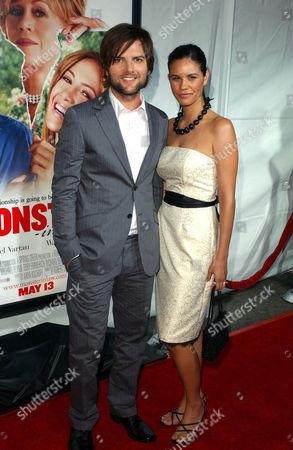 Adam Scott with fiance Naomi Sablan