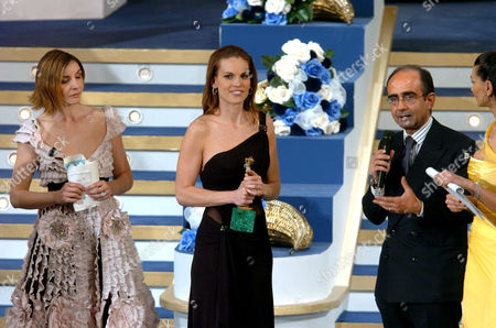 Clotilde Courau, Hilary Swank and Giancarlo Leone