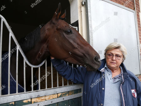 Criquette Head with Treve after retiring at her yard Chantilly