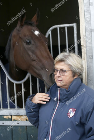 Criquette Head with Treve after retiering at her yard Chantilly