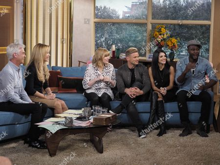 Phillip Schofield and Amanda Holden with Sarah Powell, Jeff Brazier, Natalie Anderson and Anthony Brown