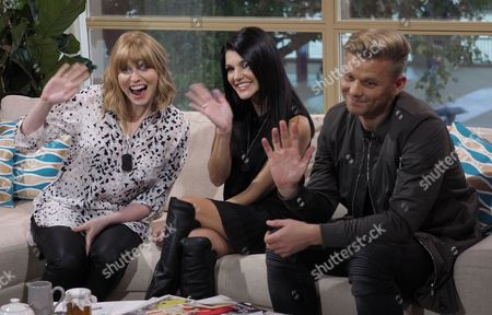 Sarah Powell, Natalie Anderson, and Jeff Brazier
