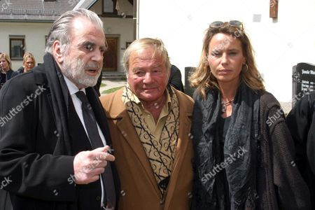 Maria Schell's brothers Maximillian and Carl Schell and her daughter Marie Theres Relin