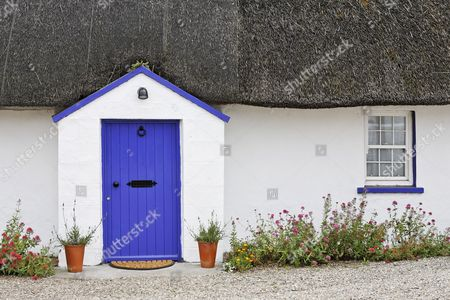 House with thatched roof, Kilmore Quay, Wexford, Ireland