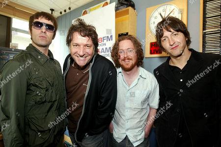 Liam Gallagher, Pete Mitchell, Geoff Lloyd and Gem Archer