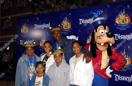 Karl Malone, wife Kay and family