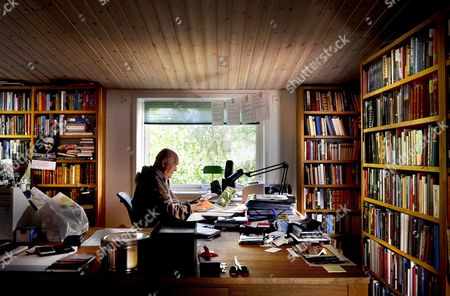 Editorial photo of Henning Mankell in his home at Saro, Sweden - 18 Sep 2015