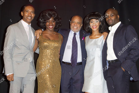 Charles Randolph-Wright (Director), Aisha Jawondo (Martha Reeves), Berry Gordy, Lucy St Louis (Diana Ross) and Cedric Neal (Berry Gordy)