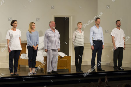 Stock Picture of Rebecca Charles (Woman), Kirsty Oswald (Laura), Kenneth Cranham (Andre), Claire Skinner (Anne), Nicholas Gleaves (Pierre) and Jim Sturgeon (Man) during the curtain call