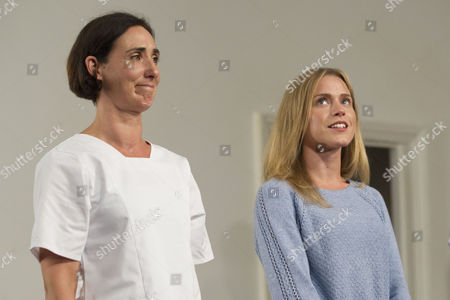 Stock Picture of Rebecca Charles (Woman) and Kirsty Oswald (Laura) during the curtain call
