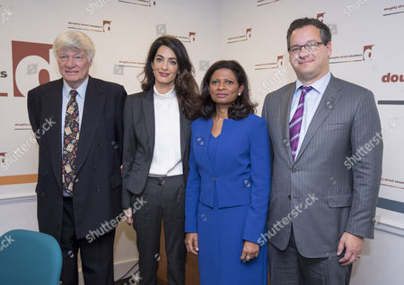 Geoffrey Robertson, Amal Clooney, Laila Ali and Jared Genser of Freedom Now
