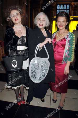 Helena Bonham Carter and Elena Wynnona with Lulu Guinness