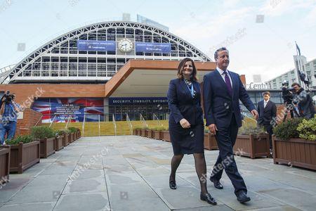 Prime Minister David Cameron and Caroline Ansell MP