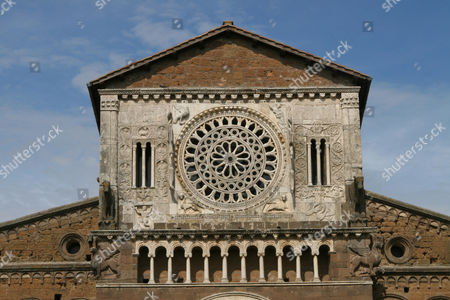 Stock Photo of Roman church S. Maria Maggiore, Tuscania, Latium, Italy