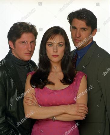 ADRIAN DUNBAR, SUSAN VIDLER AND JONATHAN CAKE IN 'THE JUMP' - 1998