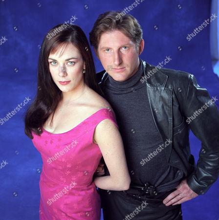 SUSAN VIDLER AND ADRIAN DUNBAR IN 'THE JUMP' - 1998